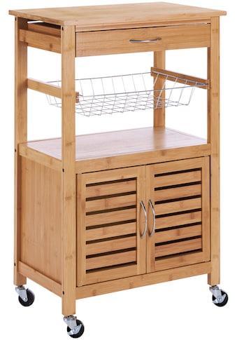 Küchenrollwagen »Bambus«, 56 x 36 x 85 cm kaufen