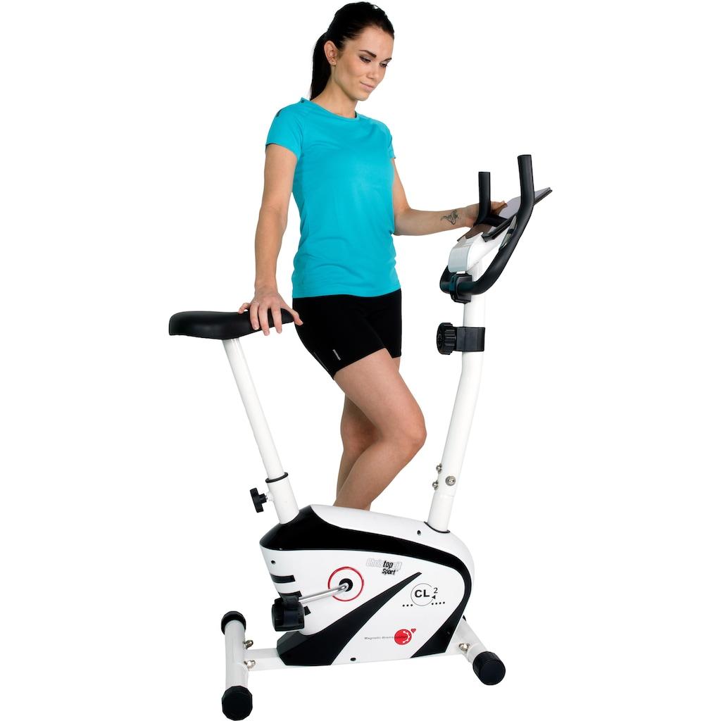 Christopeit Sport® Heimtrainer »CL 2«, Computer mit Halterung für Tablet bzw. Smartphone