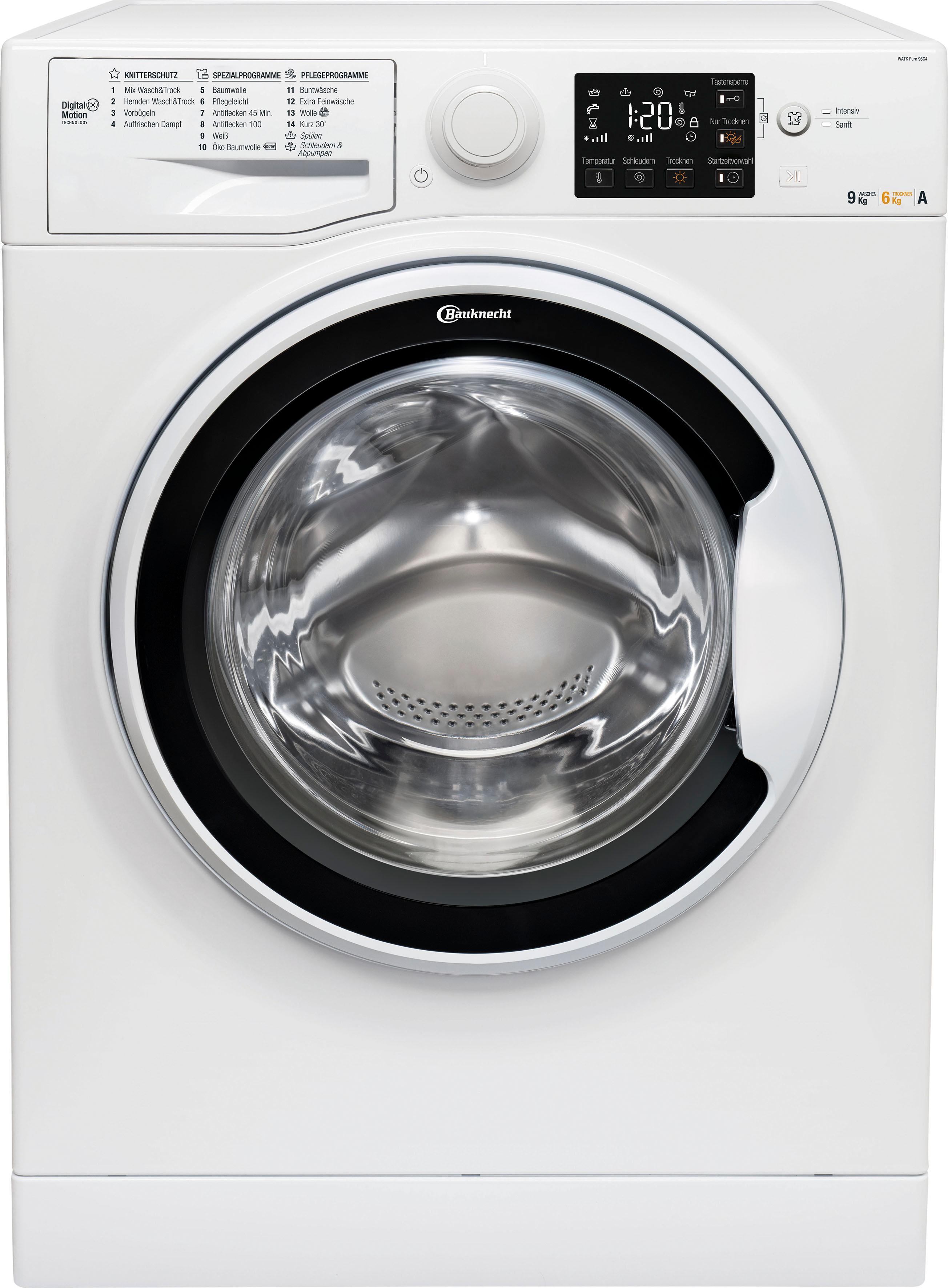 BAUKNECHT Waschtrockner WATK Pure 96G4, 9 kg / 6 kg, 1400 U/Min