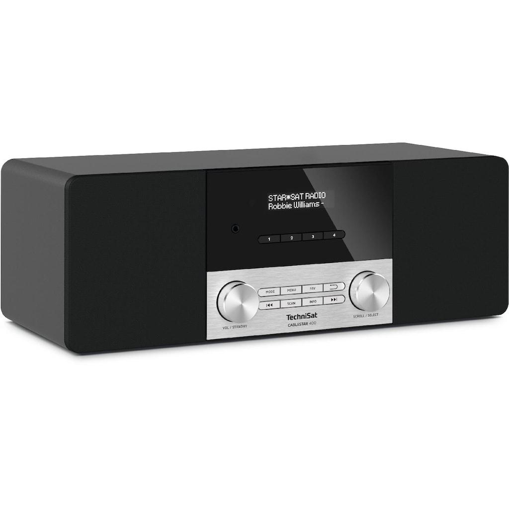 TechniSat Digitalradio (DAB+) »CABLESTAR 400 inkl. Fernbedienung«, (Digitalradio (DAB+)