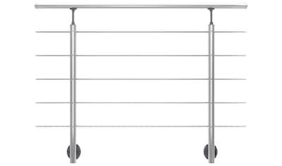 DOLLE Set: Treppengeländer 150 cm Gesamtlänge, seitliche Montage kaufen