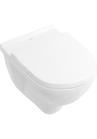 VILLEROY & BOCH Tiefspül - WC »O.novo«, Combi - Pack, wandhängend mit DirectFlush, Weiß Alpin kaufen