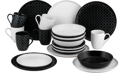 """van Well Kombiservice """"Black & White"""" (24 - tlg.), Porzellan kaufen"""