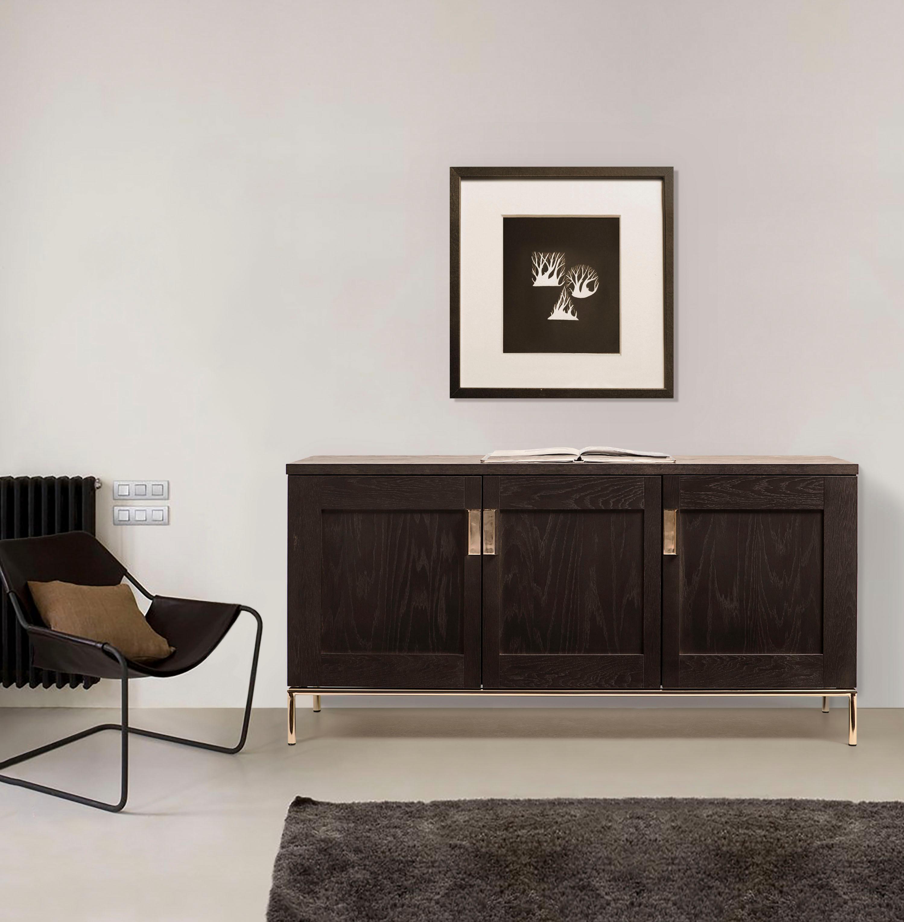 Woodman Sideboard Parlan Mit Drei Holzturen Und Anschlagdampfern Sowie Soft Close Funktion Breite 150 Cm