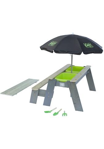 EXIT Kindersitzgruppe »Picknicktisch Aksent«, BxT: 94x94 cm, mit Schirm und Sandspielzeug kaufen