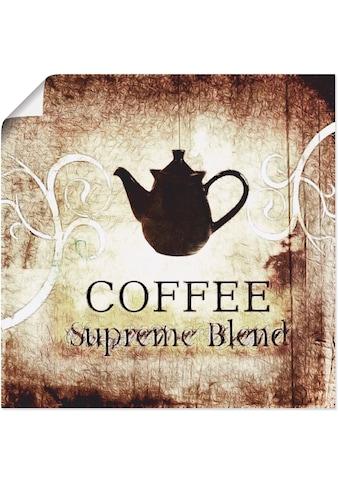 Artland Wandbild »Kaffee«, Getränke, (1 St.), in vielen Größen & Produktarten... kaufen