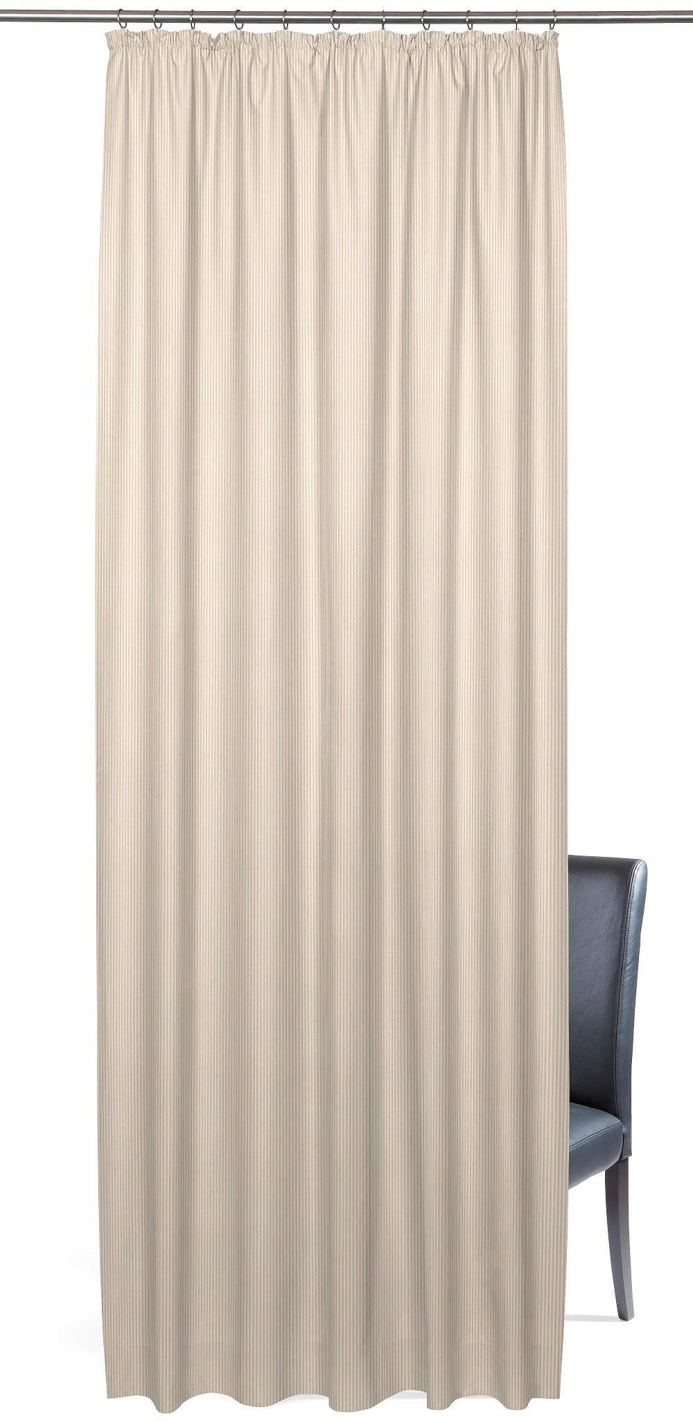 Vorhang, »Pin«, Gardisette, Kräuselband 1 Stück