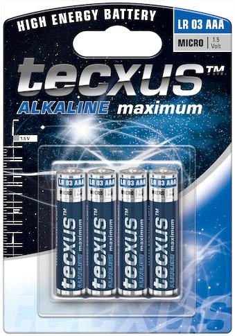 tecxus »LR03/AAA (Micro)« Batterie (4 Stück) kaufen