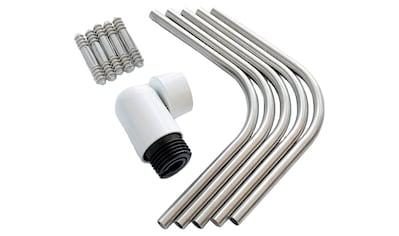 DOLLE Eckverbinder für Geländer aus Aluminium in weiß kaufen