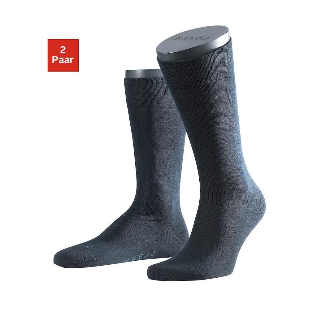 FALKE Socken »Sensitive London«, (2 Paar), mit sensitve Bündchen ohne Gummi