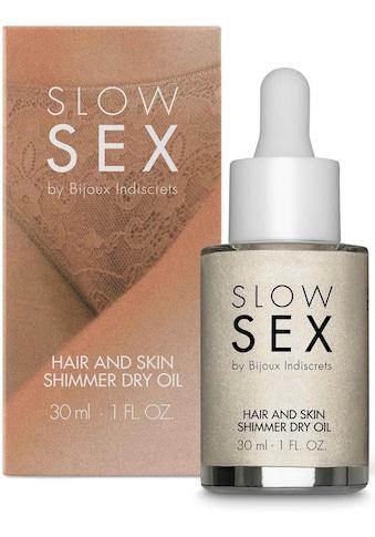 Bijoux Indiscrets Körperöl »Hair and skin shimmer dry oil- Slow Sex«, glänzendes... kaufen