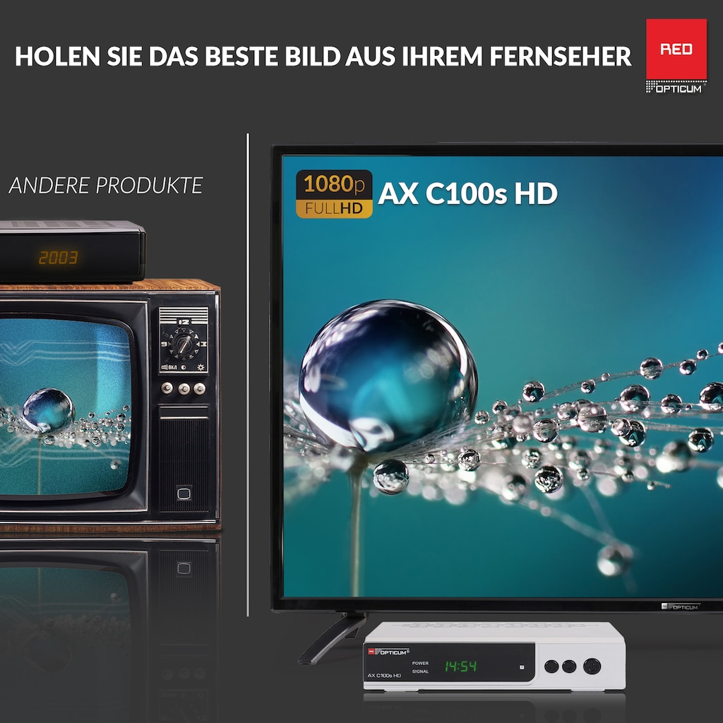 Opticum Red Kabel-Receiver »AX C100s Full HD«, PVR Ready