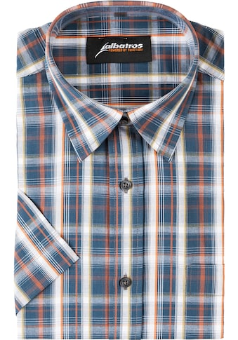 ALBATROS Hemd »Bronze 1/2«, Kurzarm, blau - rot - kariert kaufen