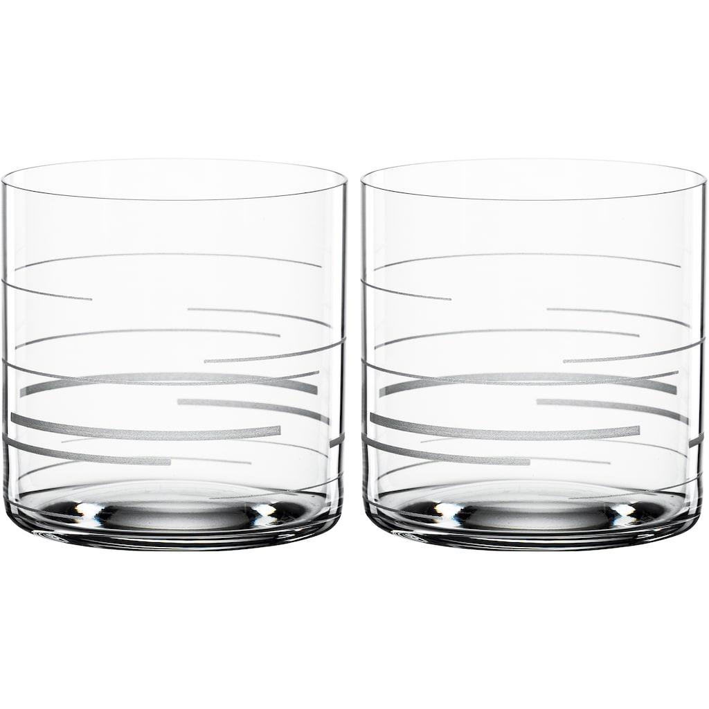 SPIEGELAU Tumbler-Glas »Lines«, (Set, 2 tlg.), Dekor graviert, 330 ml, 2-teilig