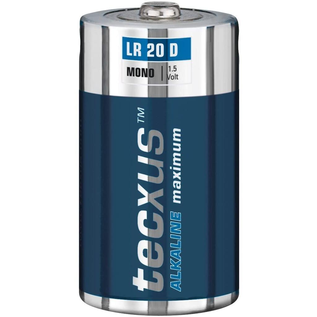 tecxus Batterie »LR20/D (Mono)«, Tecxus Alkaline maximum