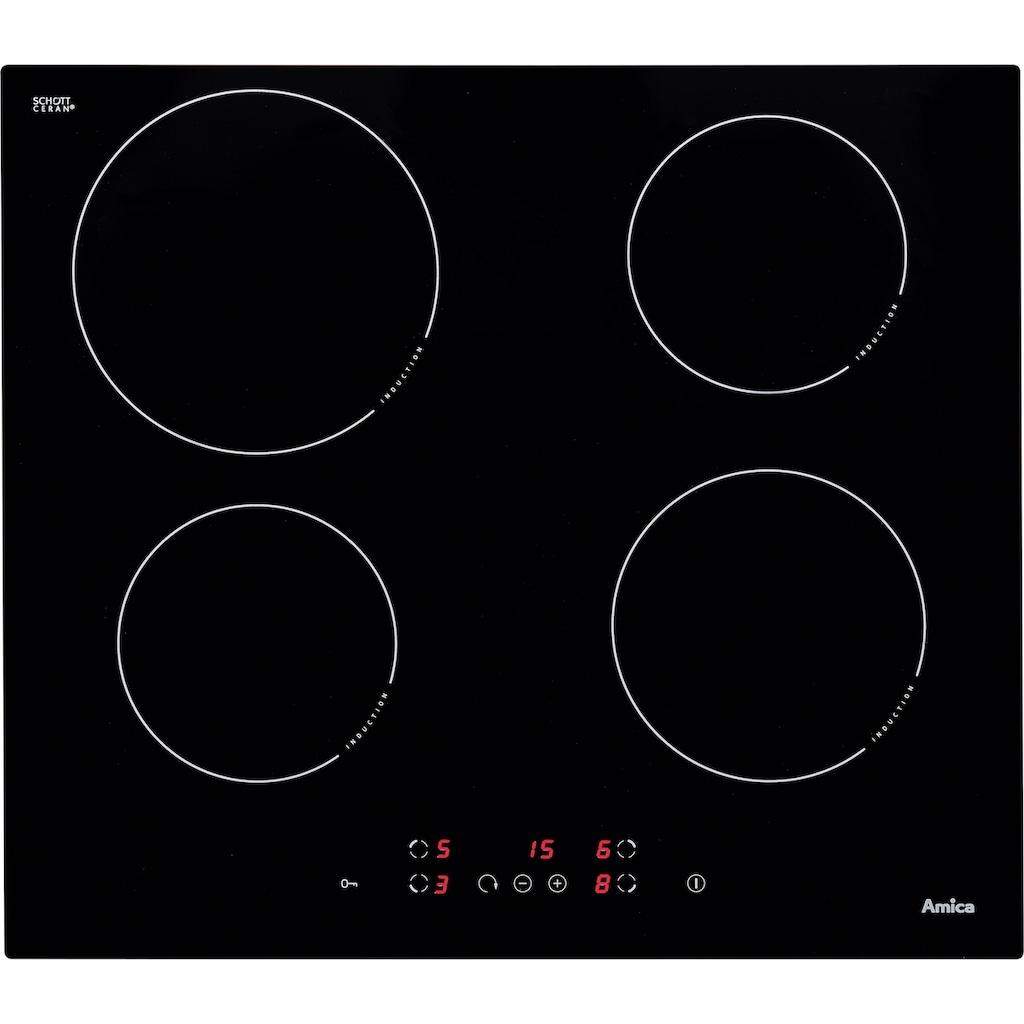 Amica Induktions-Kochfeld von SCHOTT CERAN®, KMI 13298 C, Topferkennungsfunktion