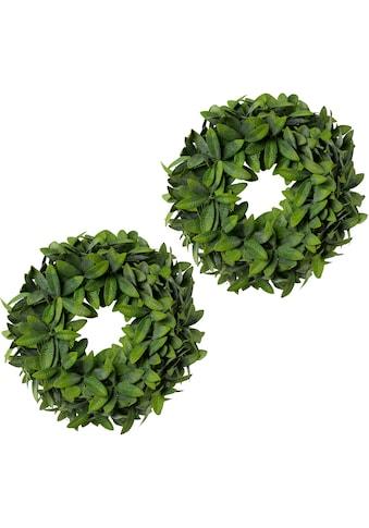 Creativ green Kunstkranz »Olivenblattkranz« (2 Stück) kaufen