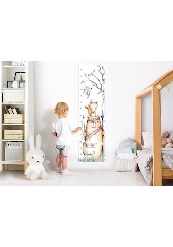little DECO Wandtattoo »Little Deco Wandtattoo Messlatte 150cm Bär Hase Eichhörnchen« kaufen
