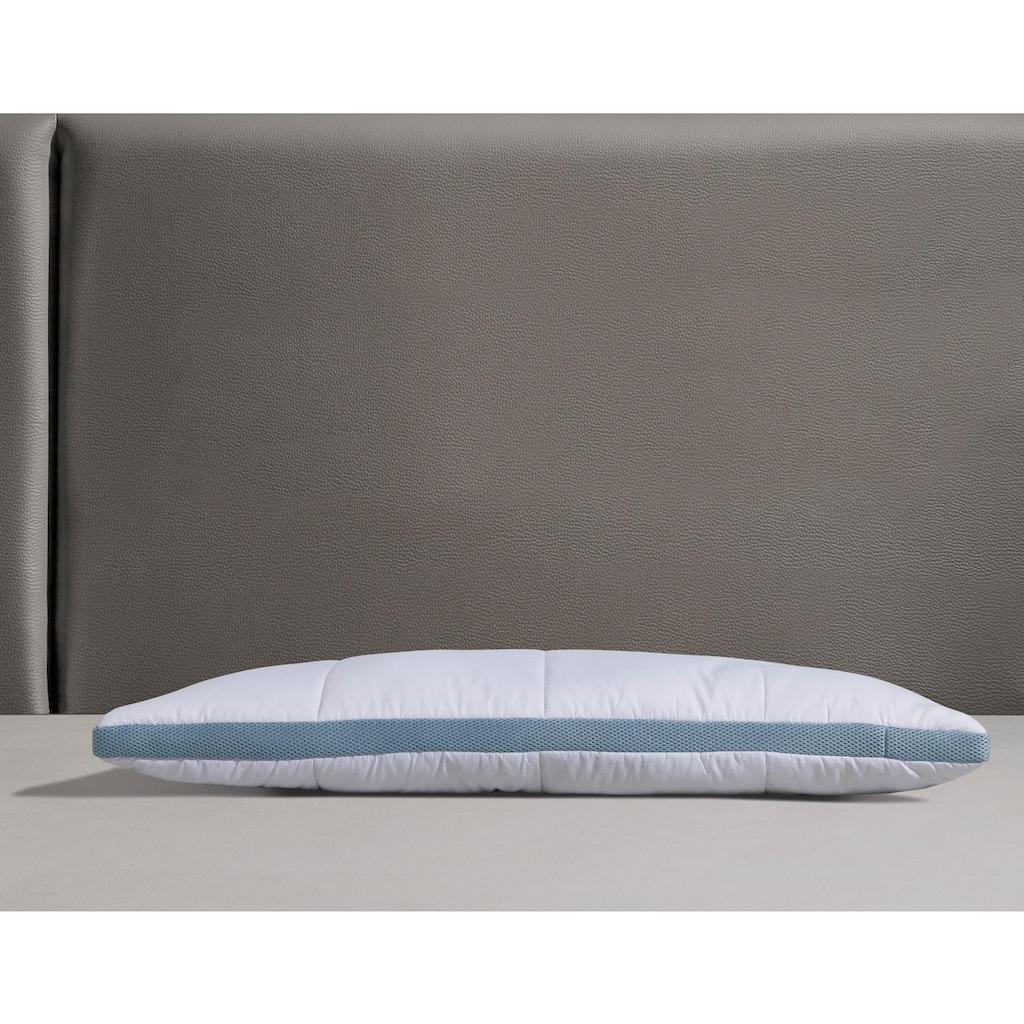 my home Microfaserkissen »Sophie«, Füllung: 100% Polyester, Bezug: 100% Polyester, (1 St.), umlaufendes Klimaband