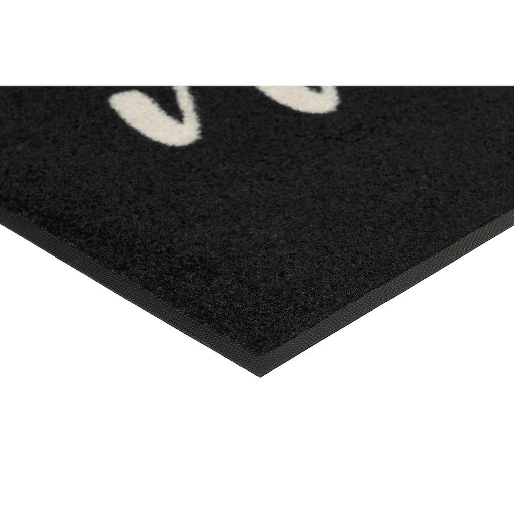 wash+dry by Kleen-Tex Fußmatte »nice«, rechteckig, 7 mm Höhe, Schmutzfangmatte, mit Spruch, In- und Outdoor geeignet, waschbar
