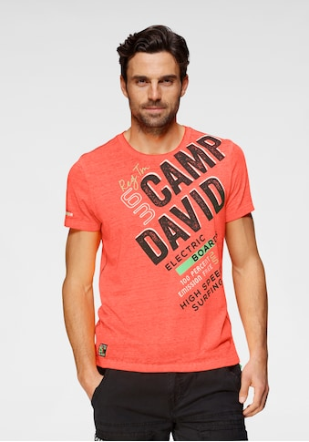 CAMP DAVID T-Shirt, mit Logofrontprint kaufen