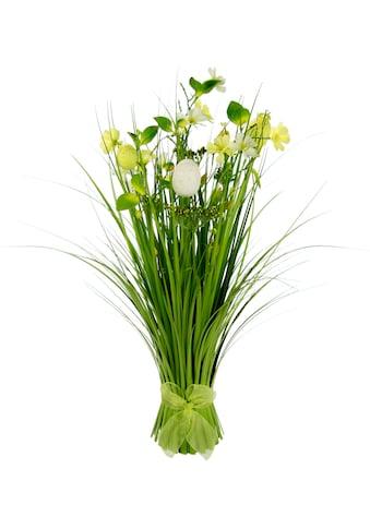 I.GE.A. Kunstgras »Gasbund«, mit feinen Blüten und Schleife kaufen