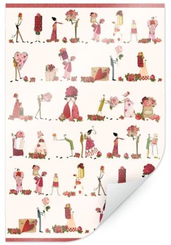Wall-Art Poster »Rote Esszimmer Fee Rosenfeen«, Figuren, (1 St.), Poster, Wandbild,... kaufen