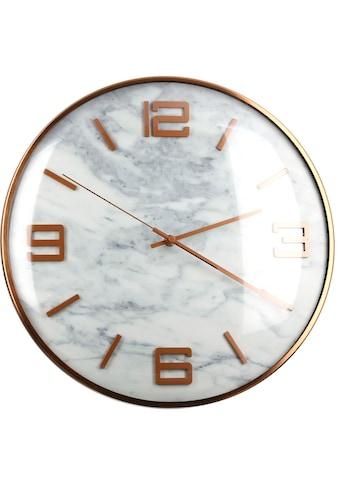 GILDE Wanduhr »Marble, rose«, rund, Ø 40 cm, aus Metall, Ziffernblatt in Marmoroptik,... kaufen