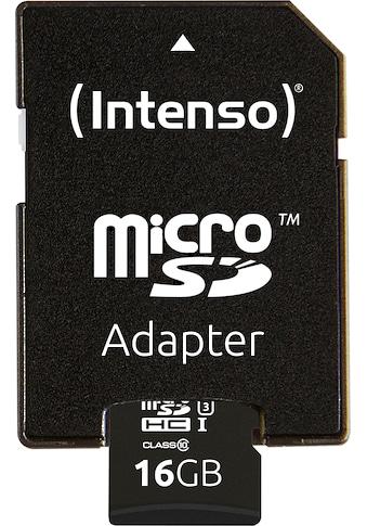 Intenso »microSDHC UHS - I Professional + SD - Adapter« Speicherkarte (Lesegeschwindigkeit maximal 90 MB/s) kaufen