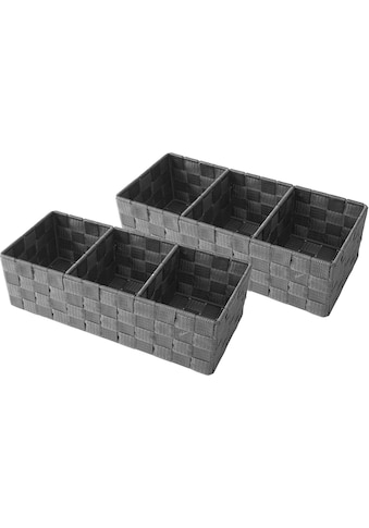 Franz Müller Flechtwaren Aufbewahrungsbox, (Set, 2 St.), mit praktischer Facheinteilung kaufen