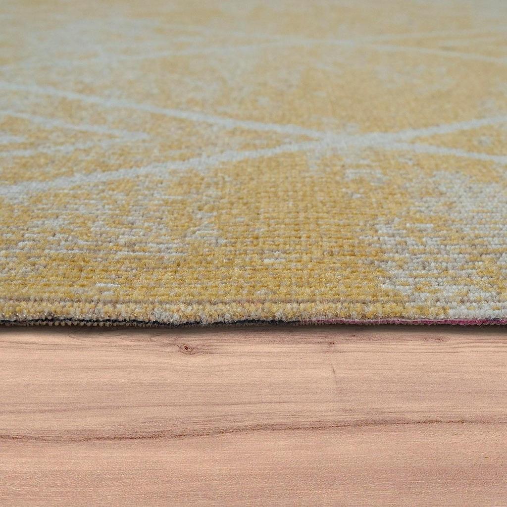 Paco Home Läufer »Artigo 427«, rechteckig, 4 mm Höhe, Teppich-Läufer, gewebt, Rauten Design, In- und Outdoor geeignet
