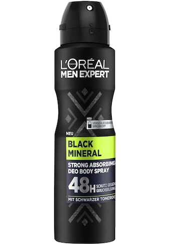 L'ORÉAL PARIS MEN EXPERT Deo-Spray »Black Mineral«, absorbierender Schutz gegen Gerüche, ohne Aluminium kaufen