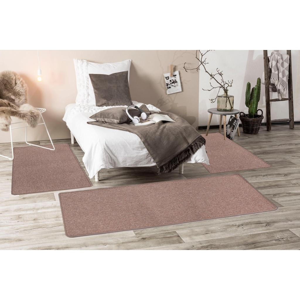 LUXOR living Bettumrandung »Luton«, Bettvorleger, Läufer-Set für das Schlafzimmer, melierte Optik