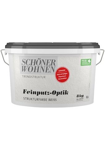 SCHÖNER WOHNEN-Kollektion Wand- und Deckenfarbe »Feinputz-Optik extrafein weiss«, 16 kaufen