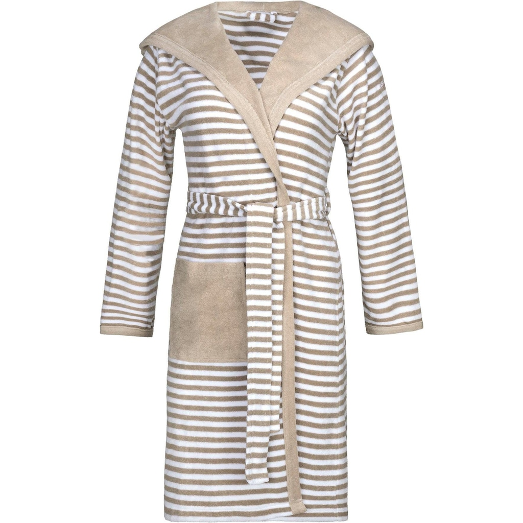 Esprit Damenbademantel »Striped Hoody«