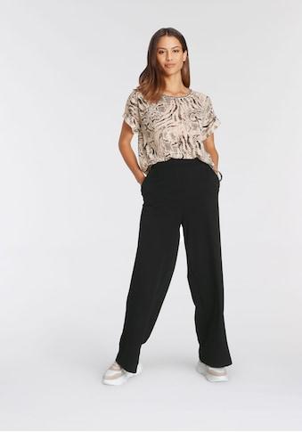 soyaconcept Print-Shirt »SC-ARETHA AOP24«, mit Zierblende am Ausschnitt kaufen
