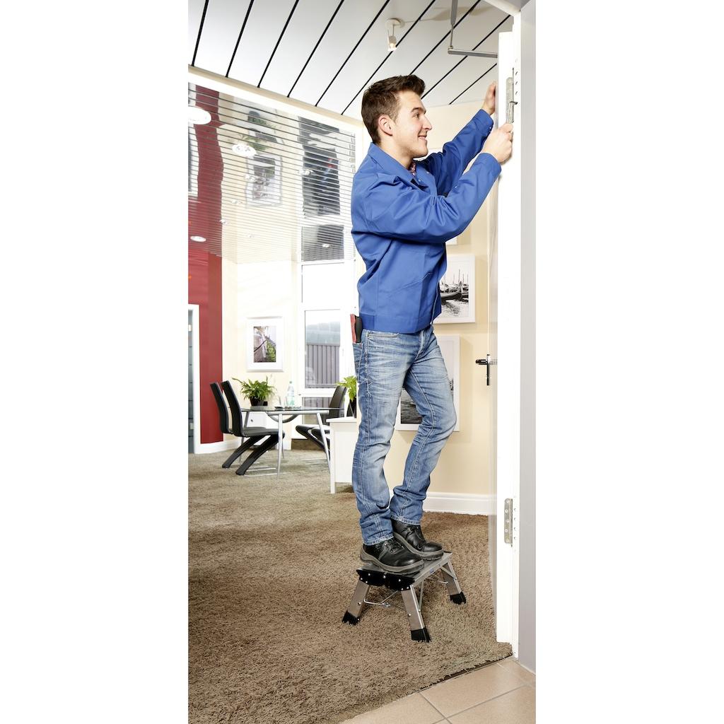 KRAUSE Trittleiter »Treppy Plusline Alu«, Aluminium, 1x1 Stufen, Arbeitshöhe ca. 220 cm