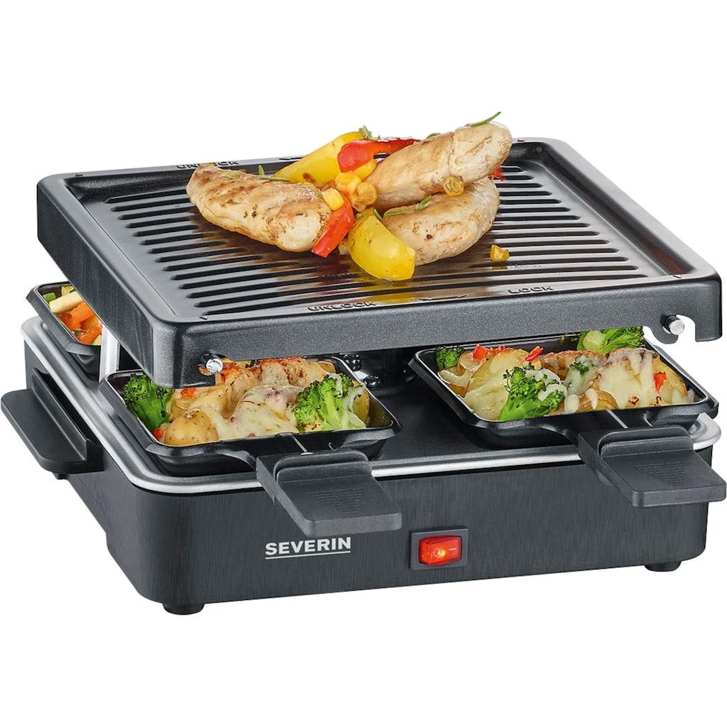 Severin Raclette »RG 2370«, 4 St. Raclettepfännchen, 600 W