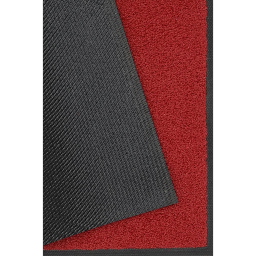 wash+dry by Kleen-Tex Fußmatte »Original Uni«, rechteckig, 7 mm Höhe, Fussabstreifer, Fussabtreter, Schmutzfangläufer, Schmutzfangmatte, Schmutzfangteppich, Schmutzmatte, Türmatte, Türvorleger, In- und Outdoor geeignet, waschbar