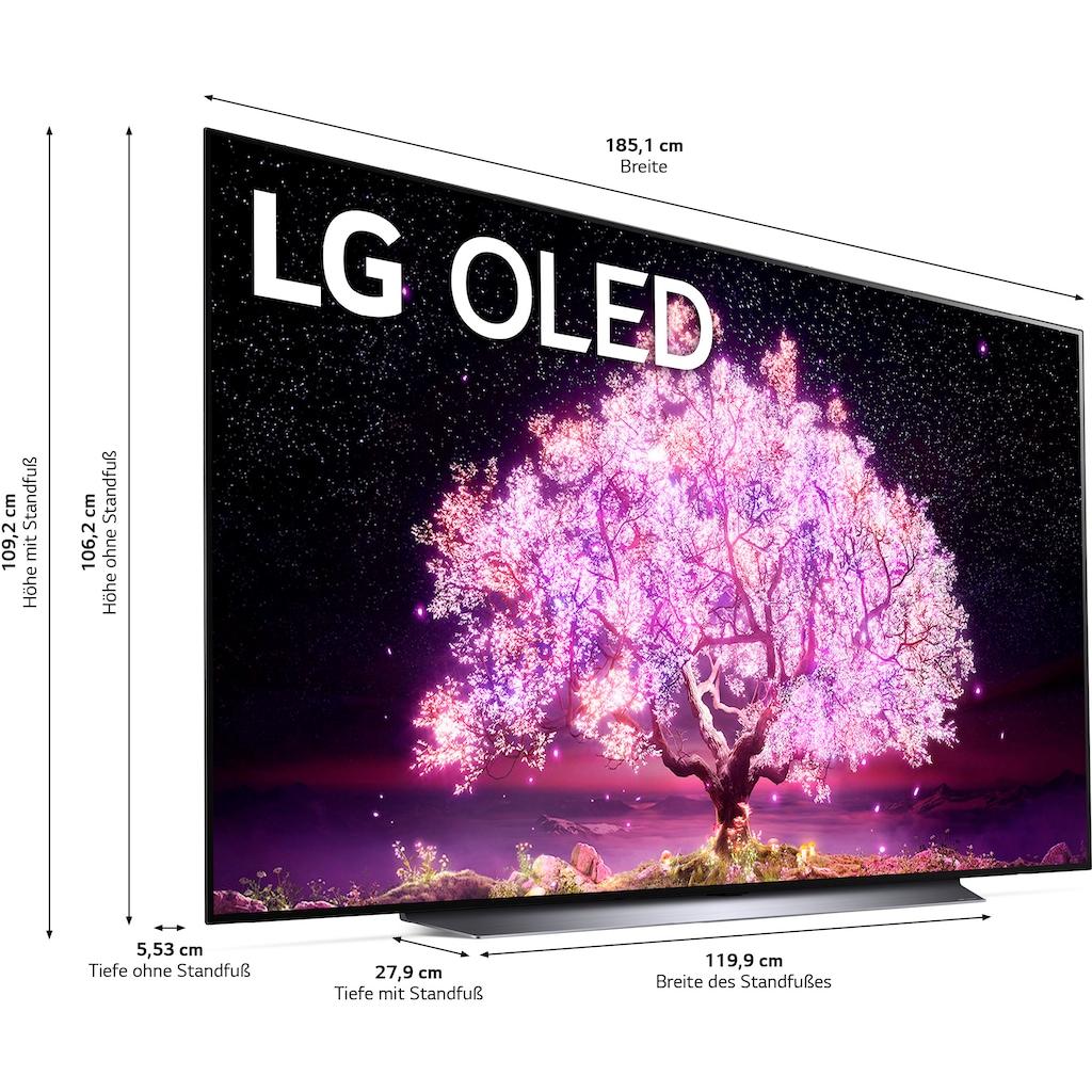 """LG OLED-Fernseher »OLED83C17LA«, 210 cm/83 """", 4K Ultra HD, Smart-TV, (bis zu 120Hz)-α9 Gen4 4K AI-Prozessor-Twin Triple Tuner-Sprachassistenten-HDMI 2.1"""