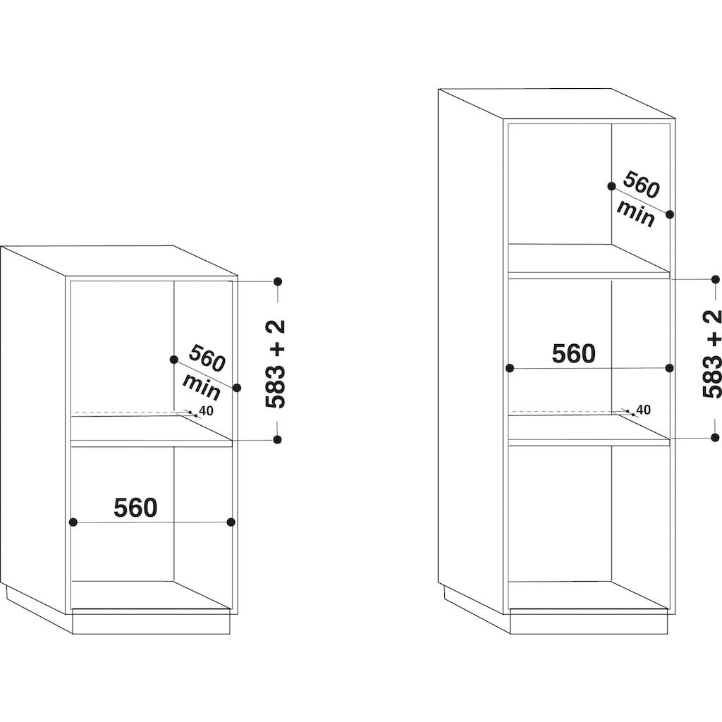 BAUKNECHT Backofen-Set »BAKO ISLAND«, BAR2 KH8V2 IN, mit 2-fach-Teleskopauszug, Hydrolyse