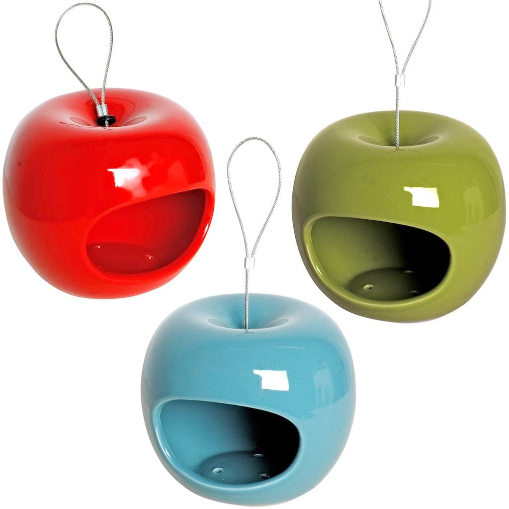 dobar Futterhaus »Apfel«, 3er Set, zum Hängen, Ø/H: je 14/12 cm