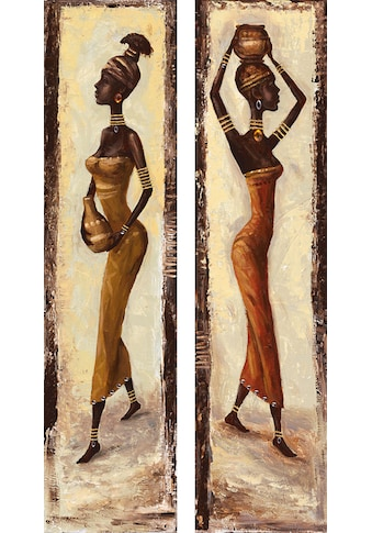 Home affaire Kunstdruck »A. S.: African woman I + II«, (Set), 2x 19/74 cm kaufen
