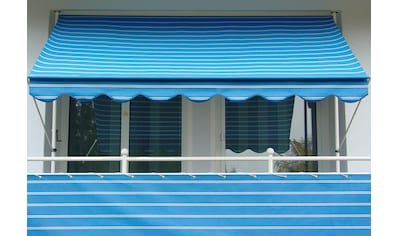 Angerer Freizeitmöbel Klemmmarkise, blau-weiß, Ausfall: 150 cm, versch. Breiten kaufen
