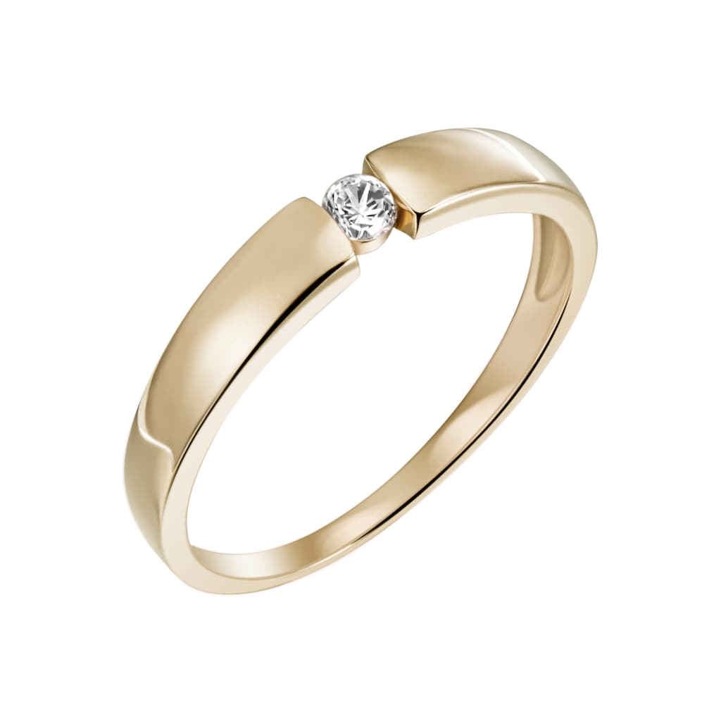 Firetti Diamantring »Verlobung, ca. 3,2 mm breit, Glanzoptik, massiv«, mit Brillant