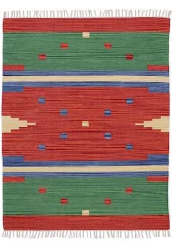 carpetfine Teppich »Kelim Amar«, rechteckig, 5 mm Höhe, Wendeteppich, Flachgewebe,... kaufen