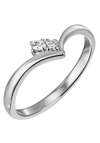 Firetti Diamantring »ca. 1,7 mm breit, glänzend, rhodiniert, massiv«, mit Brillanten kaufen