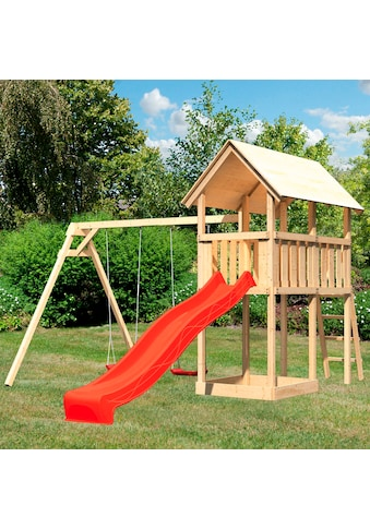 ABUKI Spielturm »Winni«, BxTxH: 347x264x291 cm, mit Schaukel, Sandkasten, Rutsche kaufen