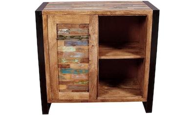 SIT Kommode »Mox«, farbiges Recyclingholz mit Eisen kaufen