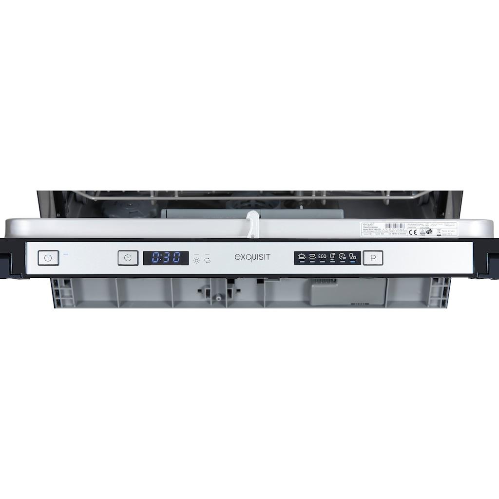 exquisit vollintegrierbarer Geschirrspüler »EGSP 1060.1 EL«, EGSP 1060.1 EL, 7 l, 6 Maßgedecke